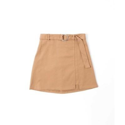 スカート DING/ベルト付きスリットスカート