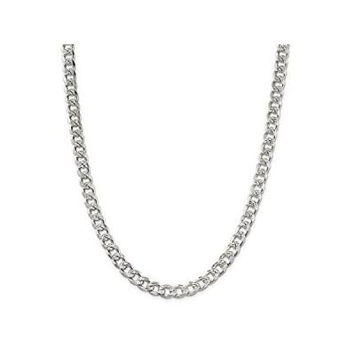 【イチオシ厳選】Solid 925 Sterling Silver 8mm Pave Curb Cuban Chain Necklace - with Secure