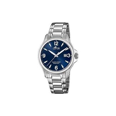 Lotus Men's Quartz Watch with Stainless Steel Strap, Silver, 20 (Model: 18645/5) 並行輸入品