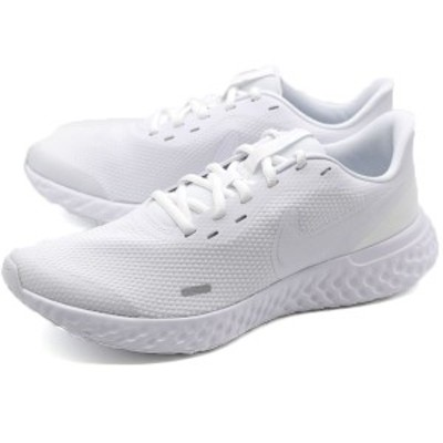 ナイキ スニーカー メンズ 靴 白 ホワイト 軽量 軽い ランニング ウォーキング 人気 おしゃれ レボリューション NIKE REVOLUTION 5 BQ320