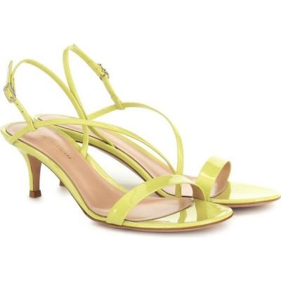 ジャンヴィト ロッシ Gianvito Rossi レディース サンダル・ミュール シューズ・靴 Manhattan 55 leather sandals Lemonade