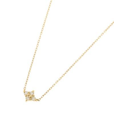 ココシュニック COCOSHNIK K18ダイヤモンド フラワーネックレス (イエローゴールド)