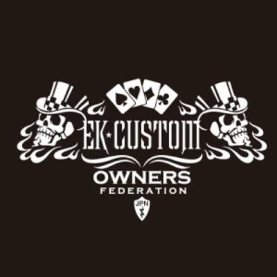 カッティングステッカー 三菱(MITSUBISHI)ekcustom EKカスタム cardskull 車 カー ステッカー  アクセサリー シール ガラス [◆]