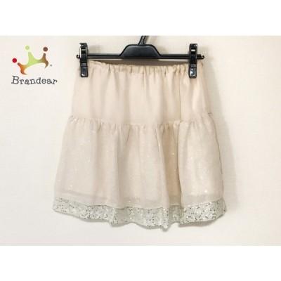 アプワイザーリッシェ スカート サイズ2 M レディース ベージュ×白 スパンコール 新着 20200723