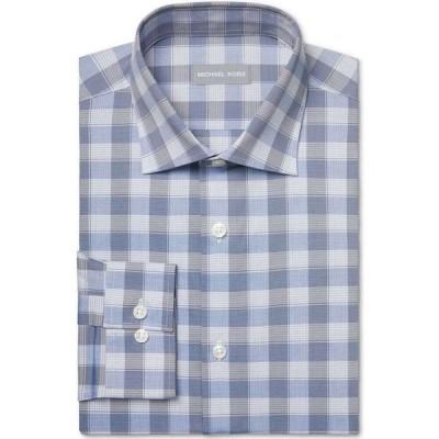 マイケル コース Michael Kors メンズ シャツ トップス Airsoft Slim-Fit Performance Stretch Check Dress Shirt Blue Multi