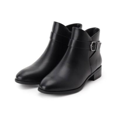 HusHusH/ハッシュアッシュ ベルテッドショートブーツ ブラック(019) 25(22.5cm)