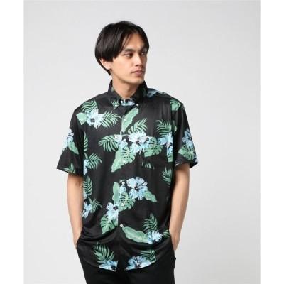 シャツ ブラウス CREW  ジャージアロハS/S ボタンダウンシャツ