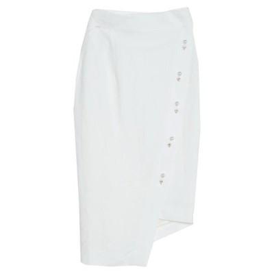 FORTE DEI MARMI COUTURE 七分丈スカート  レディースファッション  ボトムス  スカート  ロング、マキシ丈スカート ホワイト