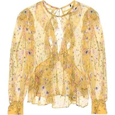 イザベル マラン Isabel Marant レディース ブラウス・シャツ トップス muster floral silk-blend blouse Yellow