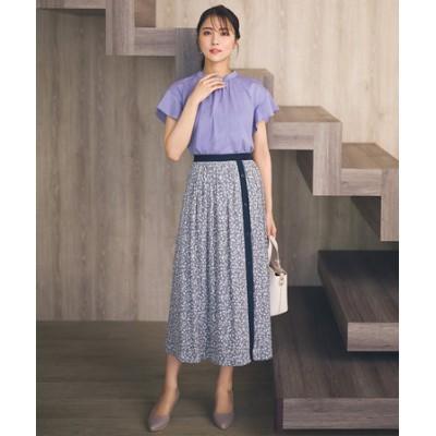 【2WAY】バイカラープリント スカート