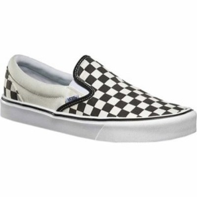 ヴァンズ スリッポン・フラット Slip-On Lite Black/Classic White Checkerboard