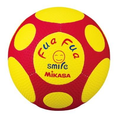 MIKASA FFF4-YR [ふあふあサッカー 縫い 約150g 黄赤] サッカーボール