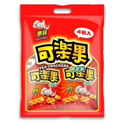 可樂果 豌豆酥-原味量販包(57gx4包/袋)