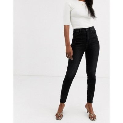 ストラディバリウス レディース デニムパンツ ボトムス Stradivarius high waist skinny jean in black