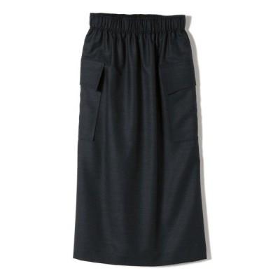 SHIPS for women/シップスウィメン PrimaryNavyLabel:ウールソリッド/チェックスカート ネイビー 36