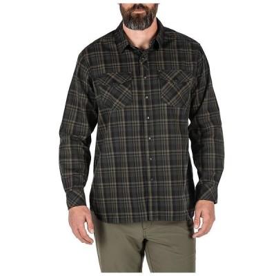 5.11タクティカル 5.11 メンズ シャツ トップス Peak LS Shirt Oil Green Plaid