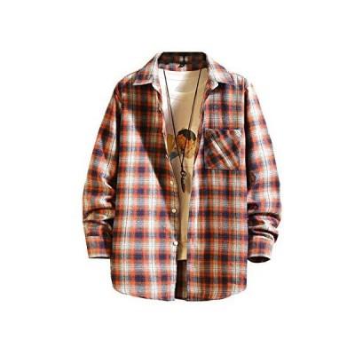 [マノンクローゼット] ネルシャツ カジュアルシャツ おしゃれシャツ カジュアル 秋 長袖 シャツ トップス チェックシャツ ファッションメンズシャツ
