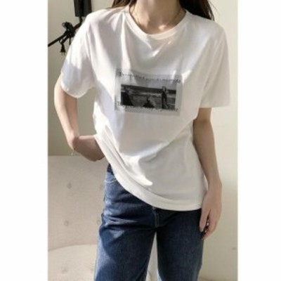 Tシャツ レディース 半袖 トップス ゆるTシャツ 丸首 カジュアル 上着 夏新作 オシャレ 韓国風 ゆったり 学生 Tシャツ 30代 春夏 上品