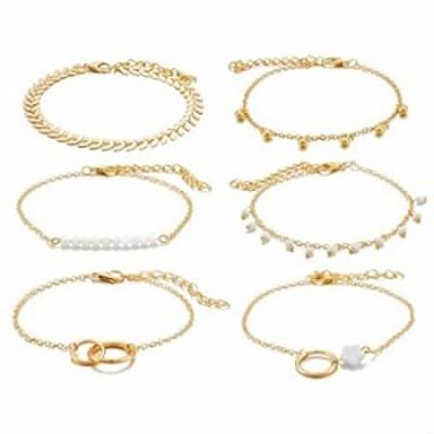 Glitziest Layered Bracelet Set Silver Gold Bracelets for Women Girls Adjustable Charm Bracelet