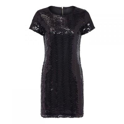 ユミ Yumi レディース ワンピース ワンピース・ドレス Scalloped Seqiun Dress Black