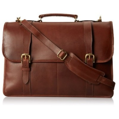 Jack Georges Flap Over with Two Strap, Brown, One Size【並行輸入品】