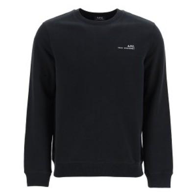A.P.C./アーペーセー Mixed colours A.p.c. item 001 sweatshirt with logo print メンズ 春夏2021 COEAS H27608 ik