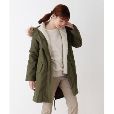 SHOO・LA・RUE / 【M-4L/撥水加工】ボアジャケット付きモッズコート WOMEN ジャケット/アウター > モッズコート
