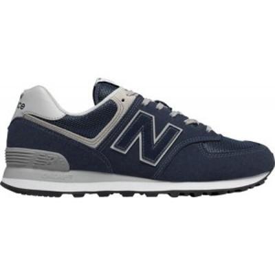 ニューバランス New Balance メンズ スニーカー シューズ・靴 M574 Sneaker Black Iris Suede/Mesh