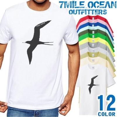 メンズ Tシャツ 半袖 プリント アメカジ 大きいサイズ 7MILE OCEAN 渡り鳥 野鳥