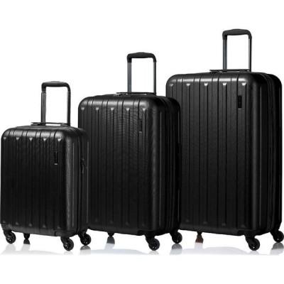 チャンプス CHAMPS ユニセックス スーツケース・キャリーバッグ ハードサイド バッグ Runway 3-Pc. Hardside Luggage Set Black