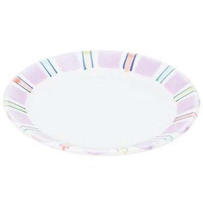 取皿 和食器 / (強)紫だみ十草 4.5丸皿 寸法: Φ14.5 x H2.5cm 200g