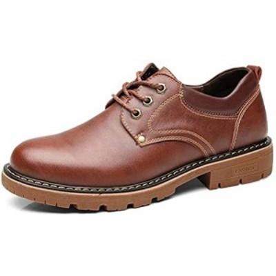 【新品】[Ainidell] マーチンシューズワークブーツ レースアップ 本革 革靴 ローカット ショットブーツ エンジニアブーツ カジュアルシュ