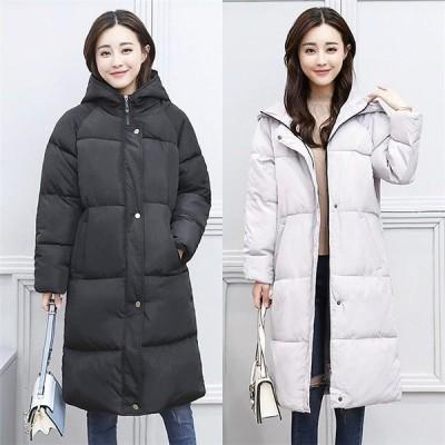 ダウンコート レディース ダウンジャケット オシャレ ロング コート ゆったり アウター フードつき 通勤 韓国風 防寒 冬服
