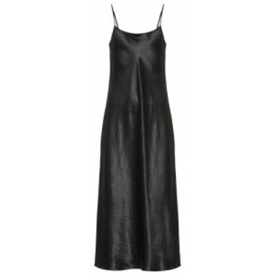 ヴィンス Vince レディース ワンピース ワンピース・ドレス Satin slip dress Black