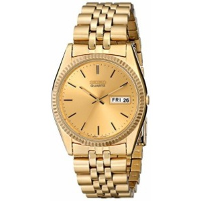 腕時計 セイコー メンズ Seiko Men's SGF206 Gold-Tone Stainless Steel Dress Watch