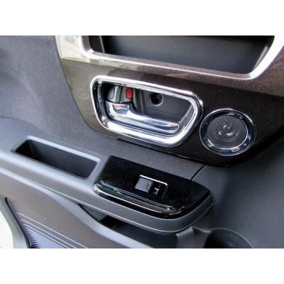 BRIGHTZ N BOXカスタム JF3 JF4 メッキインナードアハンドルカバー フロント皿 スライドドアノブ セット INS-DHC-