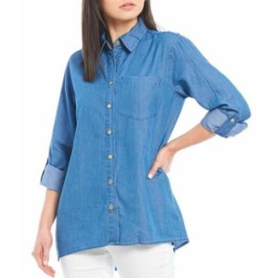 マイケルコース レディース Tシャツ トップス MICHAEL Michael Kors Cotton Lyocell Roll-Tab Sleeve Button Down Oversize Shirt Light