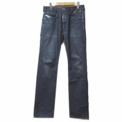 【中古】ディーゼル DIESEL PADDOM デニム パンツ ジーンズ ボタンフライ スタッズ W32 L34 青 ブルー ロゴ刺繍 コットン RRR X メンズ