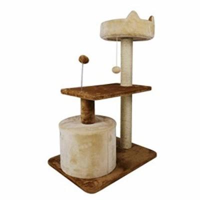 ソリッドウッド猫木登り、サイザル猫ジャンププラットフォームペットのおも(新古未使用品)