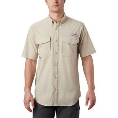 コロンビア メンズ シャツ トップス Columbia Men's Permit Woven SS Shirt Fossil