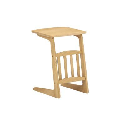 オーク材を贅沢に使用したソファーサイドテーブル