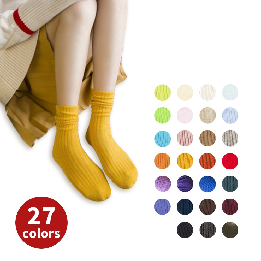 AHUA阿華有事嗎  日系純色針織堆堆襪 長襪 S0272 韓系少女襪 純棉襪 韓妞必備長襪 百搭熱賣爆款 免運