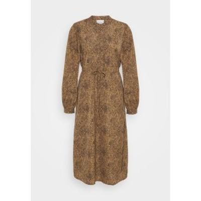 ヴィラ レディース ワンピース トップス VIKOLINA TIE STRING DRESS - Day dress - tobacco brown tobacco brown
