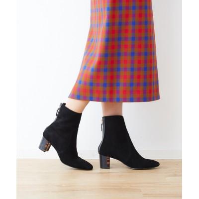 ABAHOUSE PICHE / スクエアトゥ2トーンヒールブーツ WOMEN シューズ > ブーツ