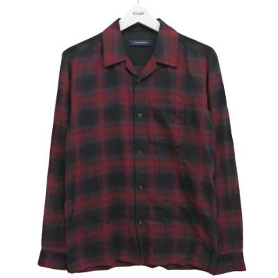 【12月28日値下】JohnUNDERCOVER 19AW オンブレチェックシャツ ネイビー×レッド サイズ:1 (渋谷神南店)