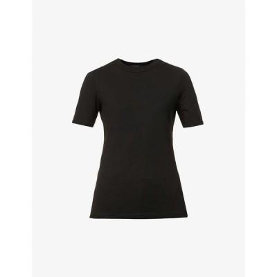 ジェイ ブランド J BRAND レディース Tシャツ トップス Marta cotton-blend T-shirt BLACK