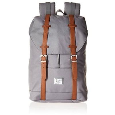 Herschel Retreat Backpack, Grey/Tan Synthetic Leather, Mid-Volume 並行輸入品