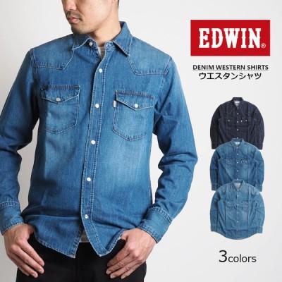 EDWIN エドウィン デニムウエスタンシャツ (ET2129) メンズファッション ブランド