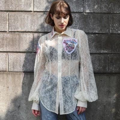 h.NAOTO ブラウス シャツ 地獄のアリス 総レース ゴシック ゴスロリ Hell Alice Lace blouse