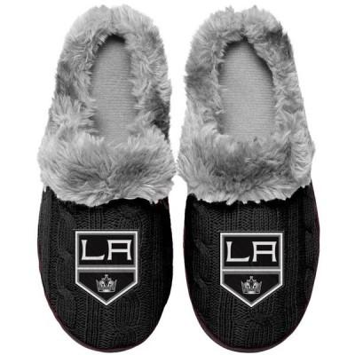 フォーエバーコレクティブルズ レディース サンダル シューズ Los Angeles Kings Women's Cable Knit Slide Slippers